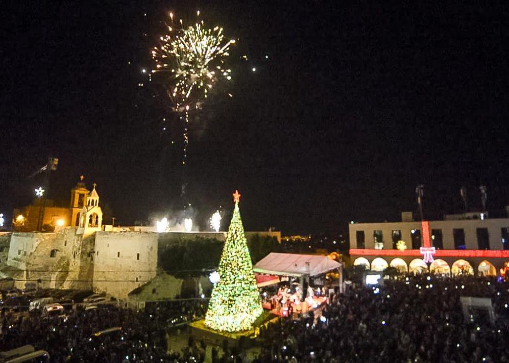 إضاءة شجرة الميلاد في بيت لحم وسط تشديدات