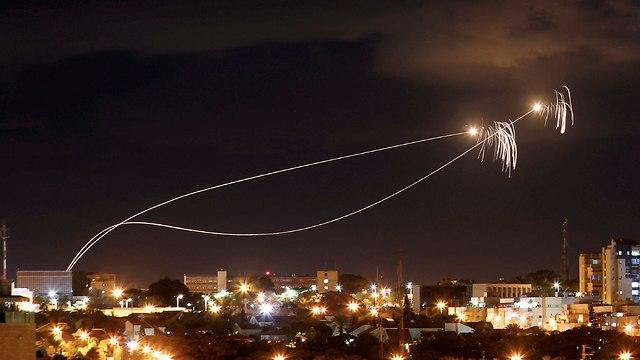 صواريخ من غزة باتجاه عسقلان