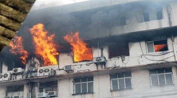 وفاة 7 مصابي كورونا في حريق بمستشفى في مصر
