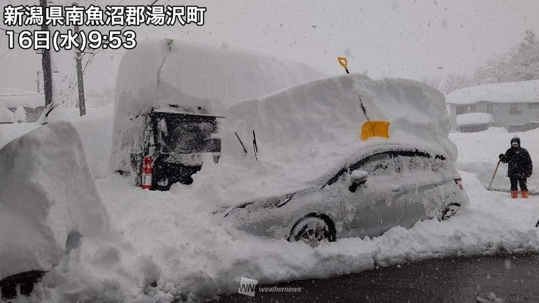 ثلوج كثيفة في اليابان