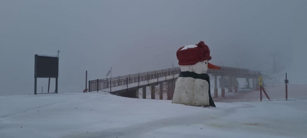 20 سم من الثلوج تكسو قمم جبل الشيخ