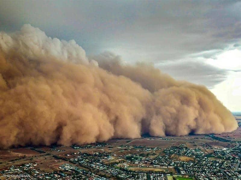 بالفيديو : اعتقال مصري في الكويت بسبب عاصفة رملية